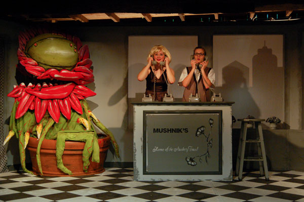 Campers perform Little shop of Horrors at Camp Merrie Woode in 2014